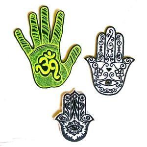 Accessories - Hamsa Hand Patch iron on peace love luck DIY AUM